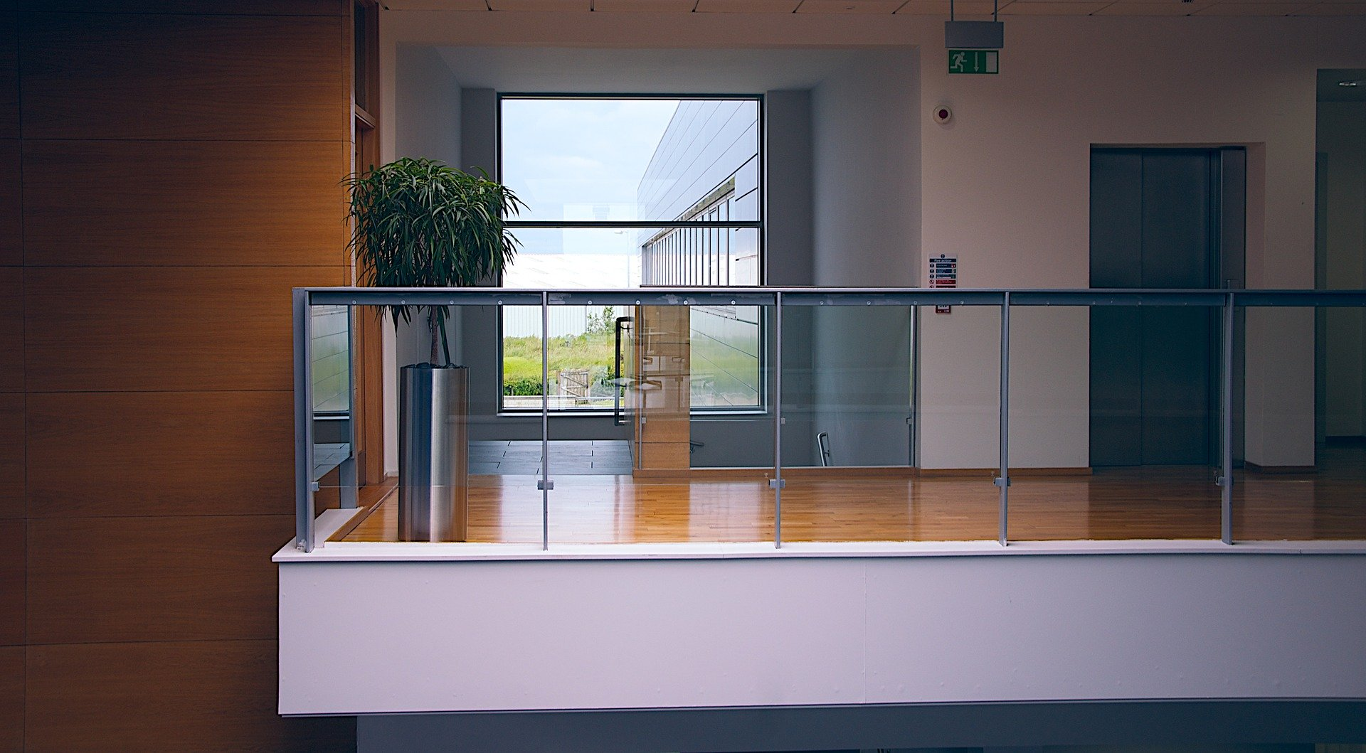 staircase-and-elevator-in-office-building