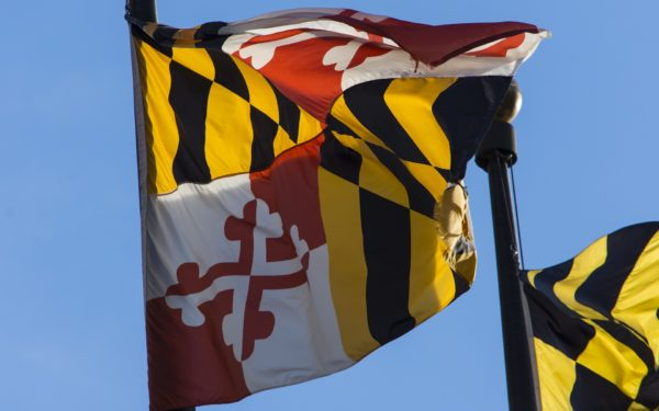 Maryland-flag-blowing-in-wind